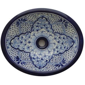 Amalia Mexican Bathroom Ceramic Oval Talavera Sink