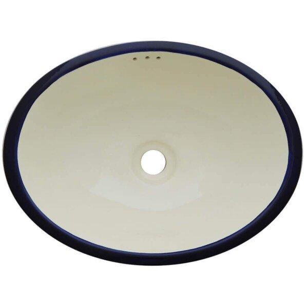 Blanco Mexicano Blue Mexican Bathroom Ceramic Oval Talavera Sink