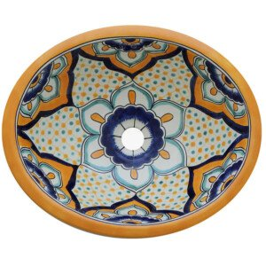 Calicanto Bathroom Ceramic Oval Talavera Sink
