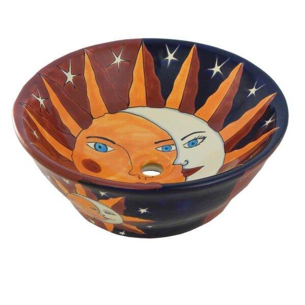 Eclipse Mexican Vessel Sink Bathroom Wash Basin