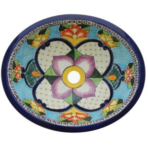 Mallorca Bathroom Ceramic Oval Talavera Sink