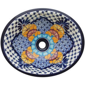 Nevado Bathroom Ceramic Oval Talavera Sink