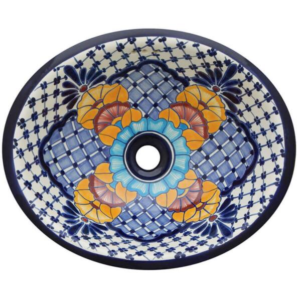 Nevado Bathroom Ceramic Oval Talavera Sink