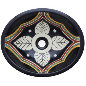 Palacio Bathroom Ceramic Oval Talavera Sink