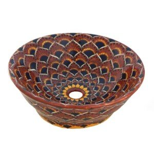 Pavo Terracotta Mexican Vessel Sink Bathroom Wash Basin