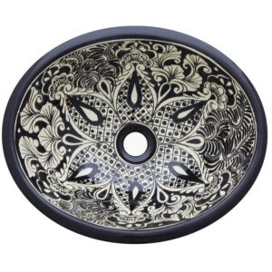 San Jose Bathroom Ceramic Oval Talavera Sink