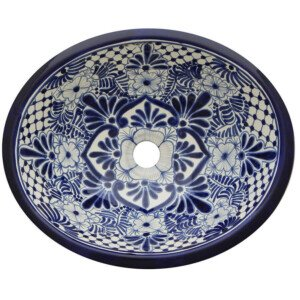 San Luis Bathroom Ceramic Oval Talavera Sink