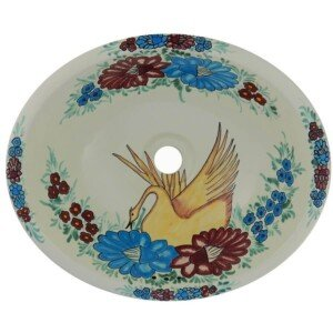 Swan Bathroom Oval Ceramic Sink