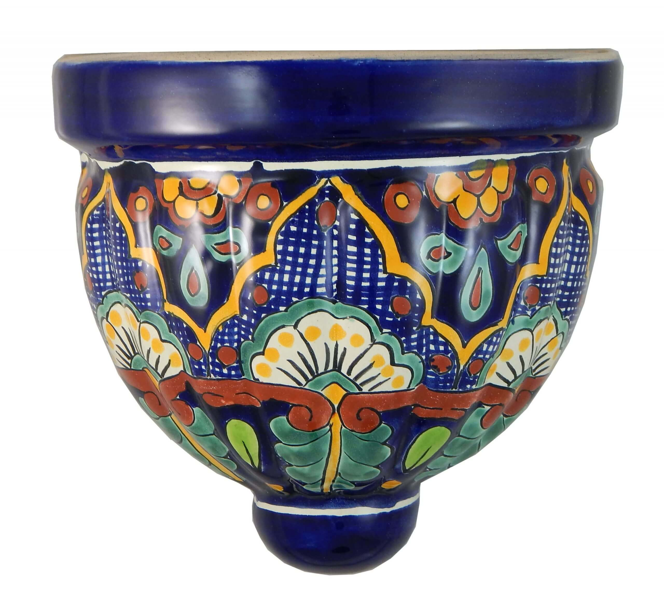 Mexican Talavera Ceramic Wall Planter 06