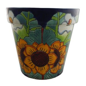 Mexican Ceramic Flower Pot Planter 09