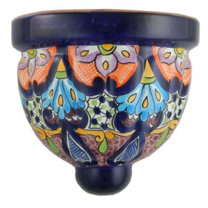 Mexican Talavera Ceramic Wall Planter 18
