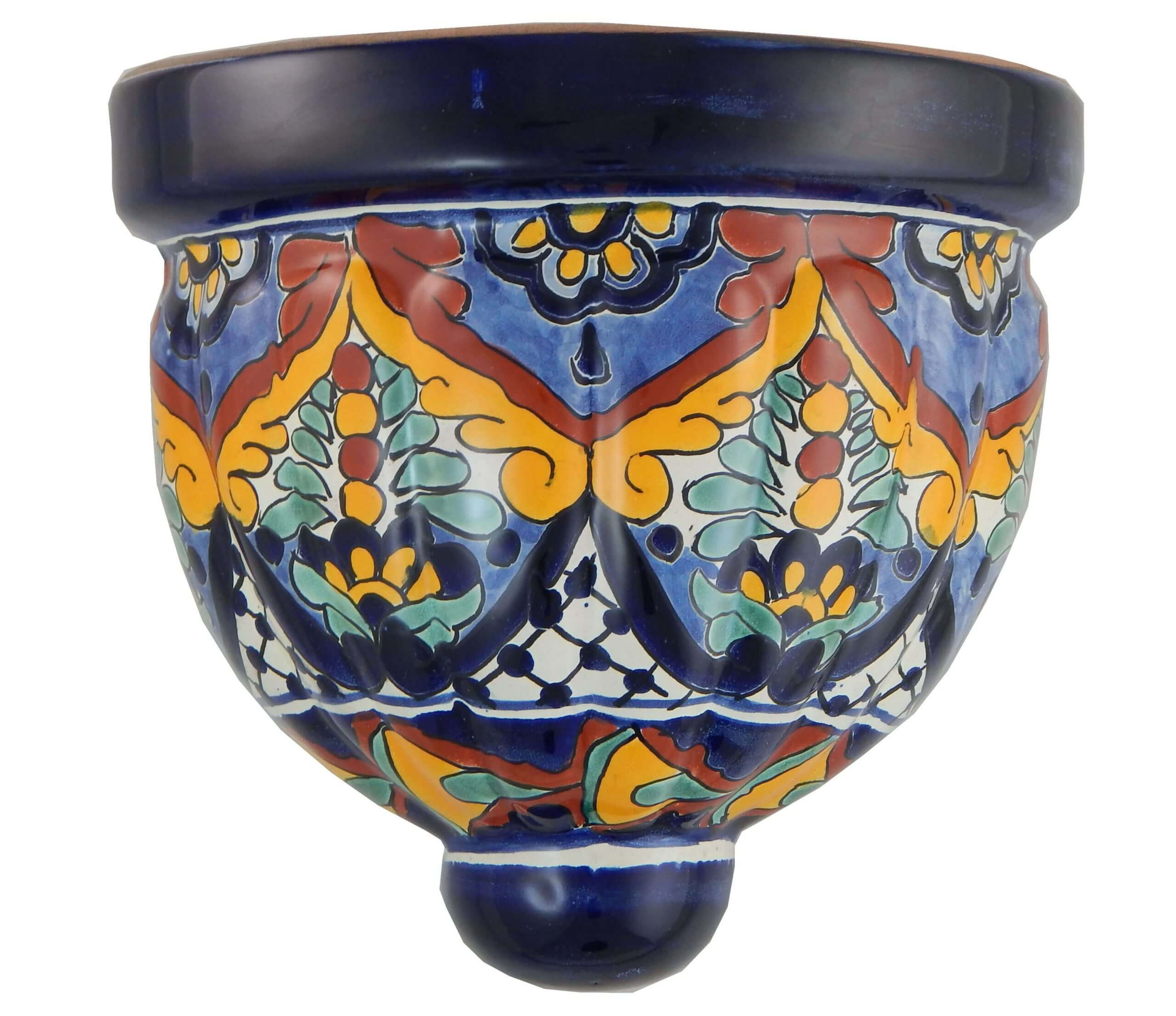 Mexican Talavera Ceramic Wall Planter 21