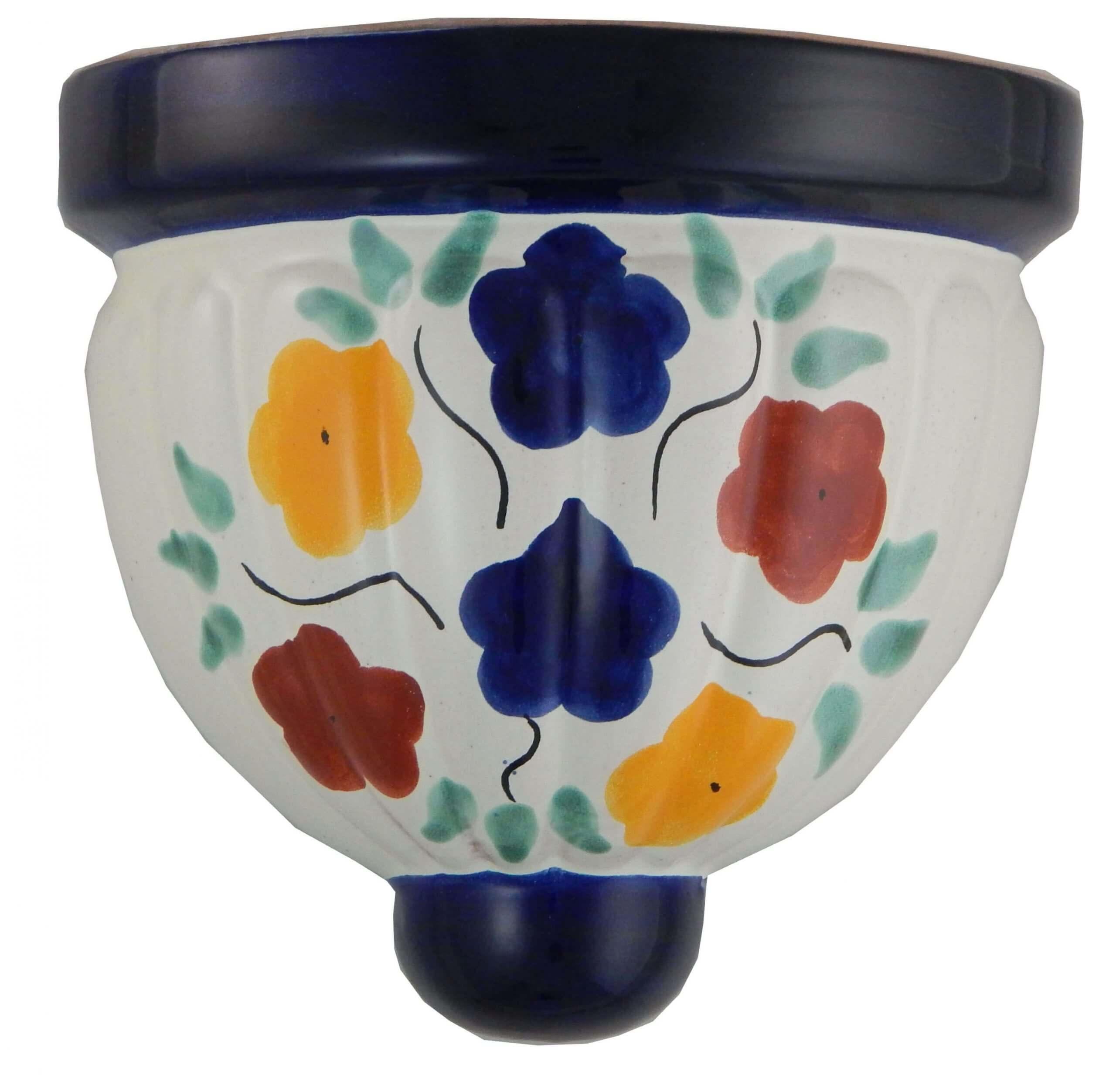 Mexican Talavera Ceramic Wall Planter 23