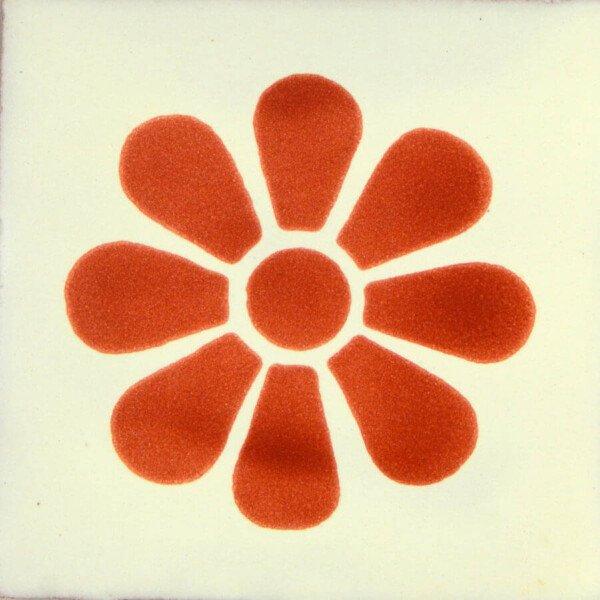 Daisy Terracotta Mexican Ceramic Talavera Tiles