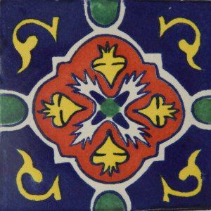 Dolores Blue Mexican Talavera Tile