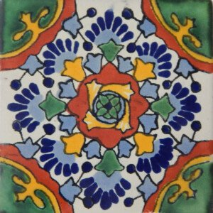 Nube Verde Complete Mexican Ceramic Tile
