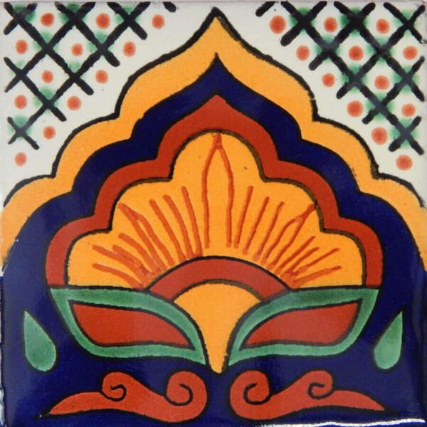 Amanecer Border Mexican Talavera Ceramic Tiles