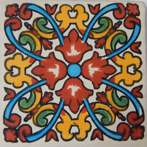 Linaria Terracotta Mexican Ceramic Tile