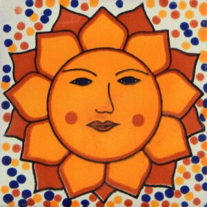 Sol Confetti Mexican Ceramic Handmade Folk Art Tiles