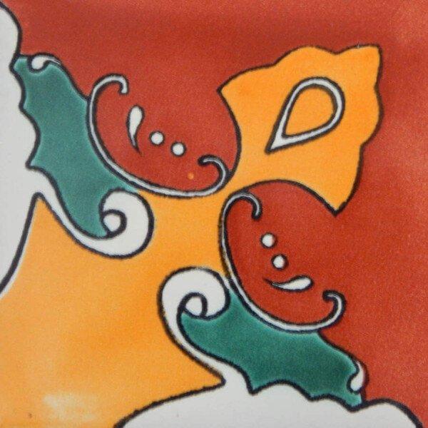 Murcielago Corner Mexican Ceramic Handmade Folk Art Tiles