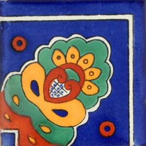 Concha Corner Mexican Ceramic Handmade Folk Art Tiles