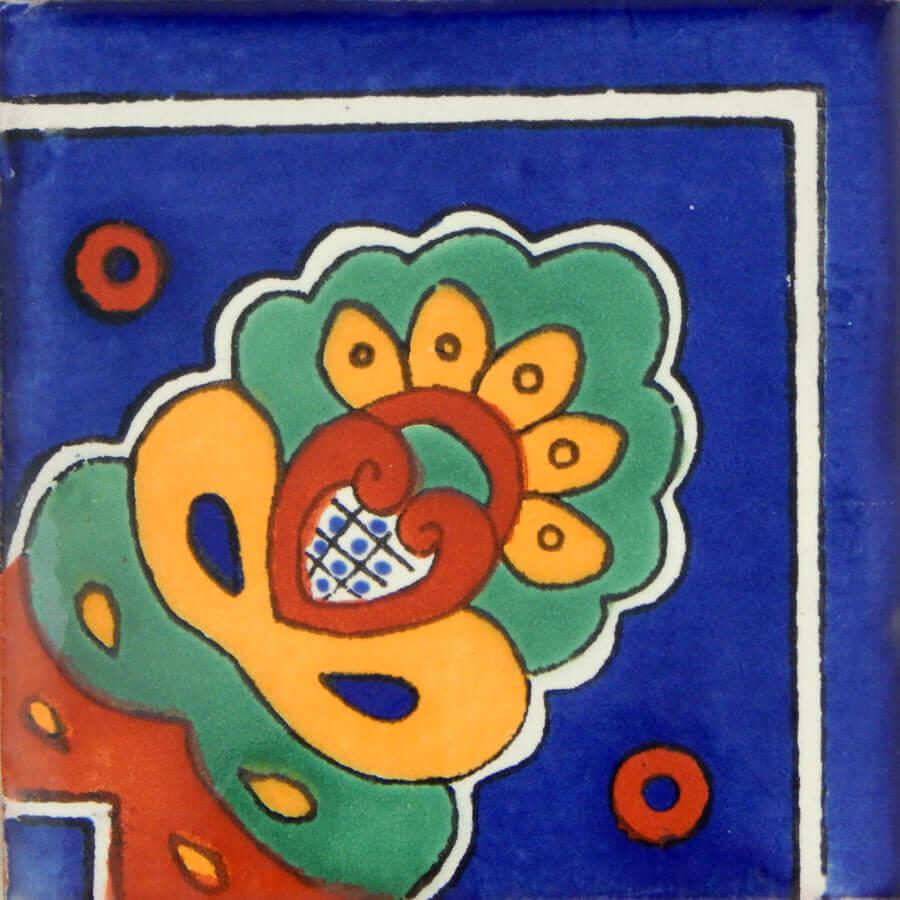 Concha Corner Mexican Ceramic Handmade Folk Art Tiles