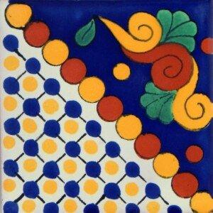 Maya Blue Mexican Ceramic Handmade Folk Art Tiles