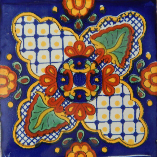 Taxco Mexican Ceramic Handmade Folk Art Tiles