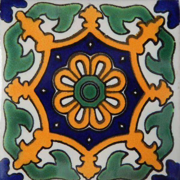 Corona Mexican Ceramic Handmade Folk Art Tiles