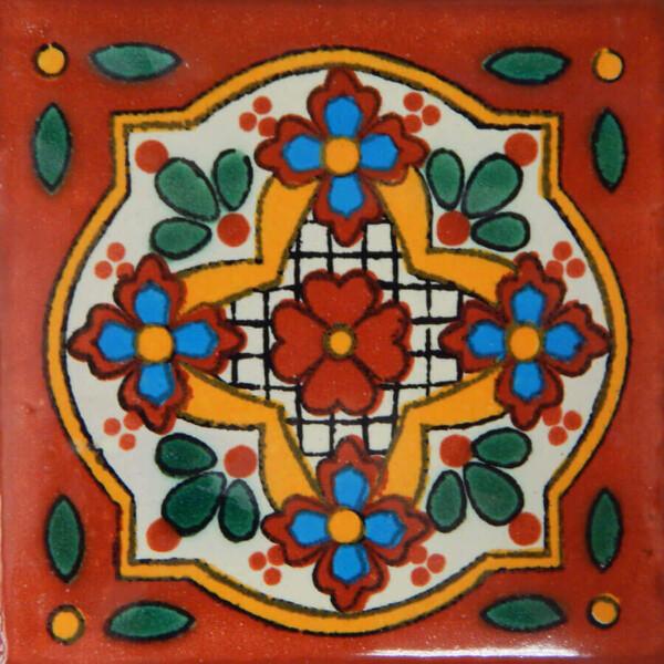 Cielo Terracotta Mexican Ceramic Handmade Folk Art Tiles