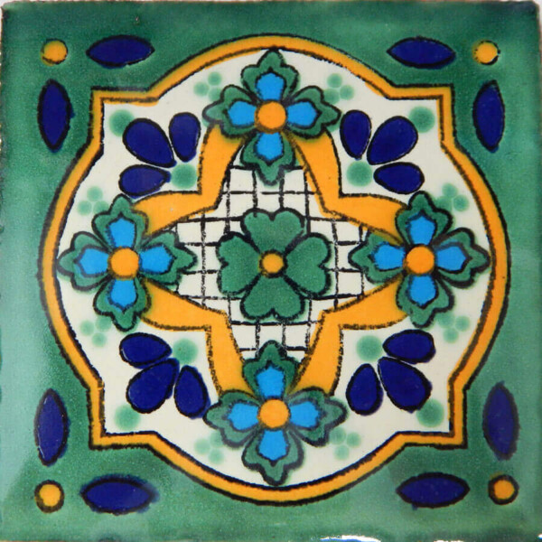 Cielo Verde Mexican Ceramic Tile