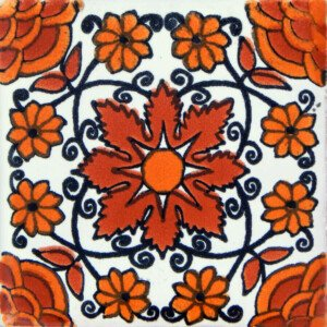 Sahara Mexican Ceramic Handmade Folk Art Tiles