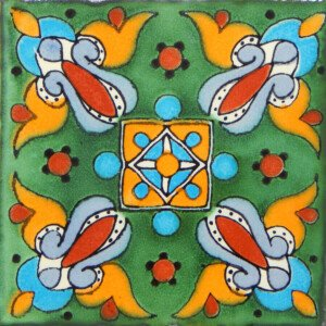 Arely Verde Mexican Ceramic Tile