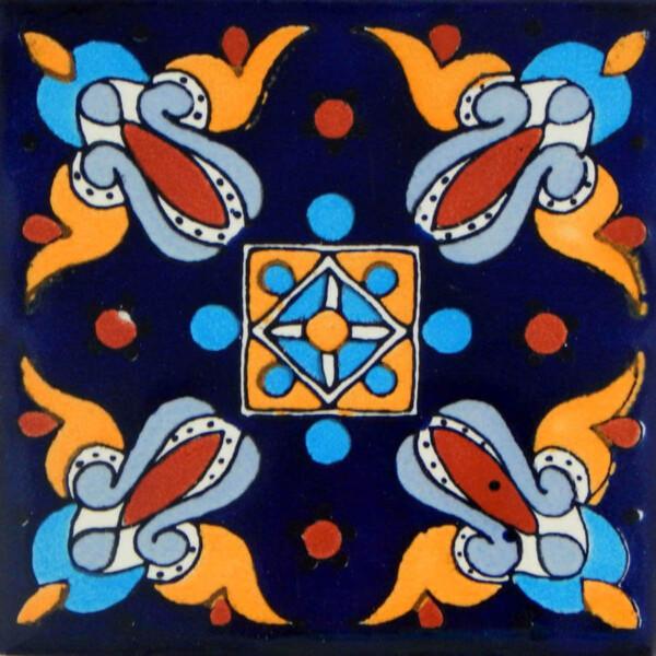Arely Mexican Ceramic Handmade Folk Art Tiles