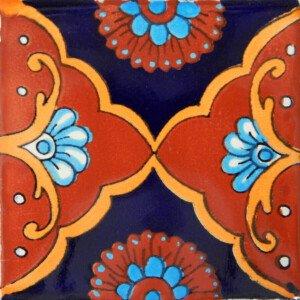Tapalpa Terracotta Mexican Ceramic Handmade Folk Art Tiles