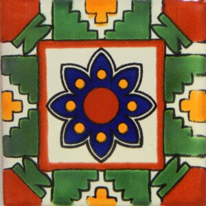 Azteca Mexican Ceramic Handmade Folk Art Tiles