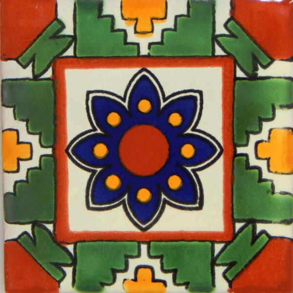 Azteca Mexican Ceramic Handmade Folk Art Tiles