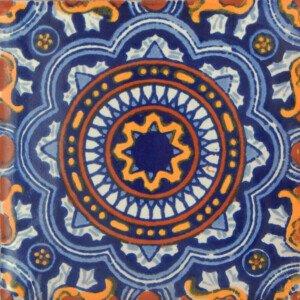 Rosario Blue Complete Mexican Ceramic Tile