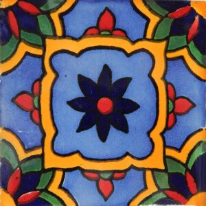 Brunella Mexican Ceramic Talavera Tile
