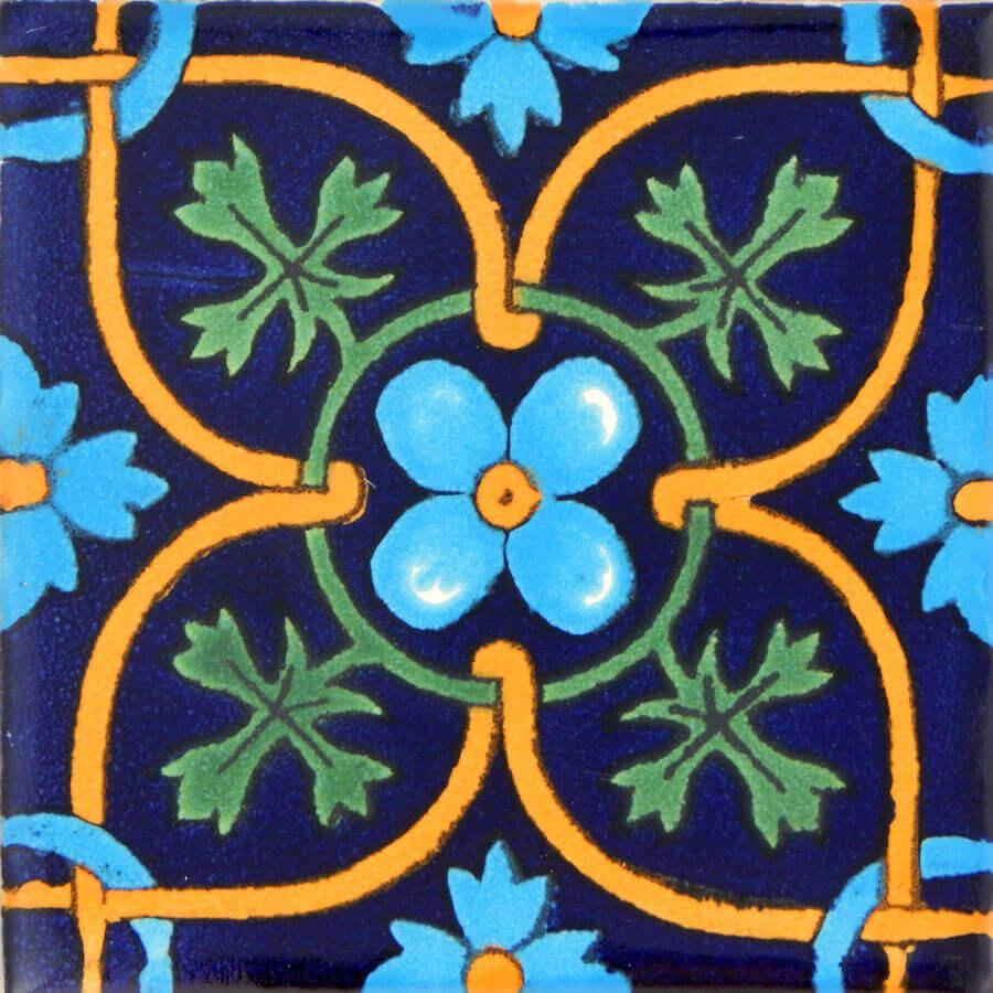 Cilantro Mexican Ceramic Talavera Tile