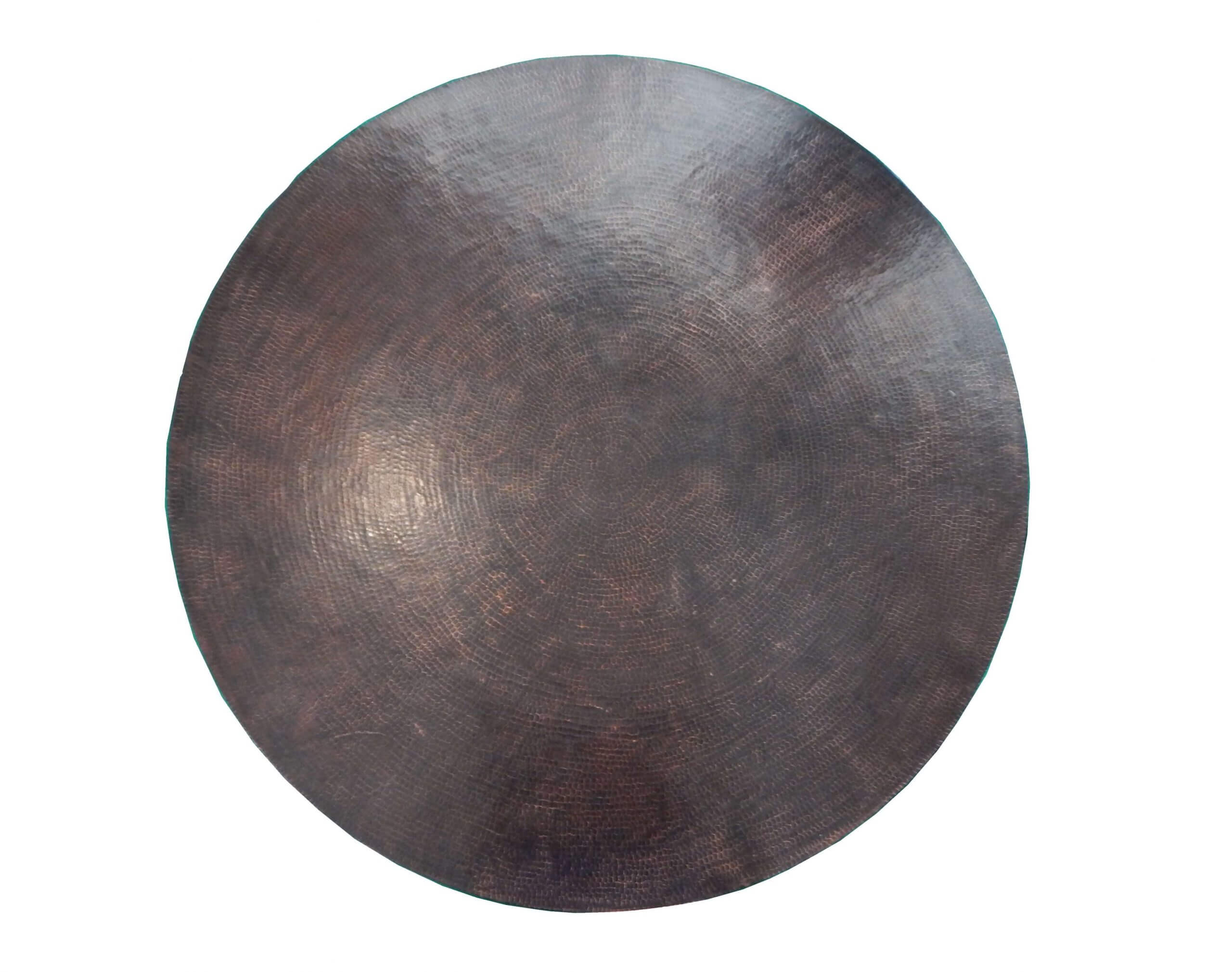 Mexican Round Copper Table Top, Hand Hammered, Rio Grande Patina 24