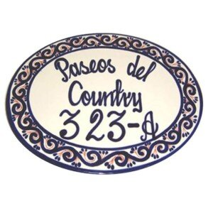 Mexican Ceramic Talavera Custom Wall House Address Plaque 05