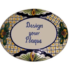 Mexican Ceramic Talavera Custom Wall House Address Plaque 07