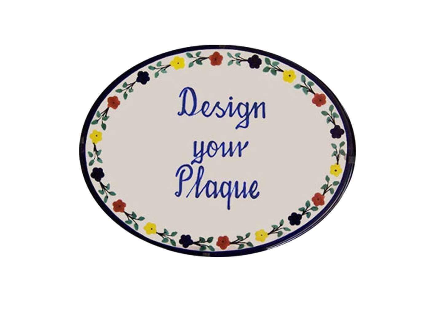 Mexican Ceramic Talavera Custom Wall House Address Plaque 09