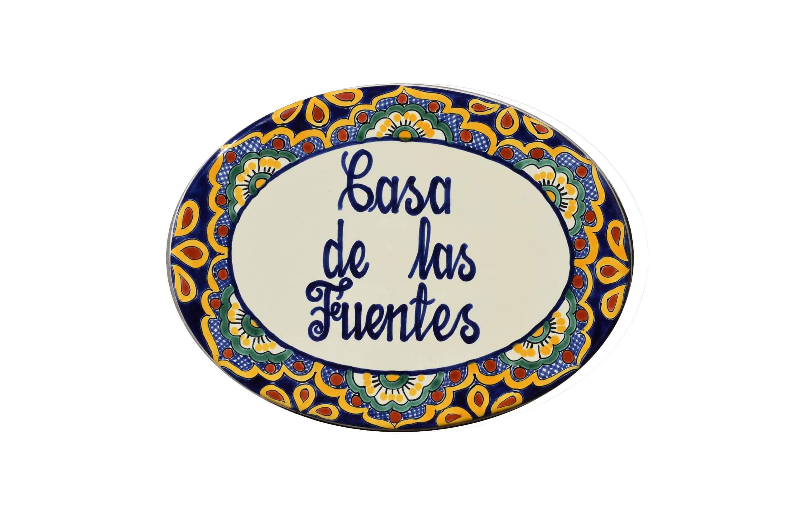 Mexican Ceramic Talavera Custom Wall House Address Plaque 11