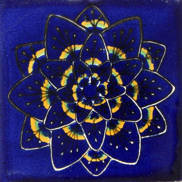 Pavo Espiral Azul Mexican Ceramic Tile