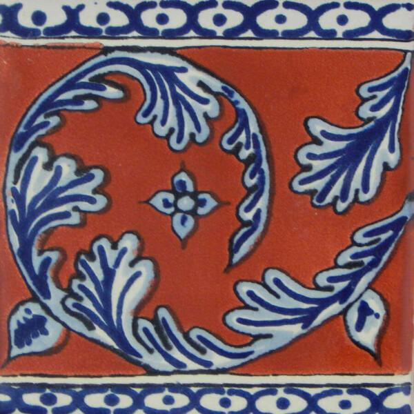 Grecas Terracotta Mexican Ceramic Tile